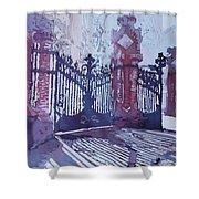 The Sant Pau Gates Shower Curtain