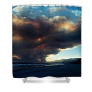 The Santa Barbara Fire Shower Curtain
