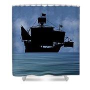 The Santa Maria 1460 V1 Shower Curtain