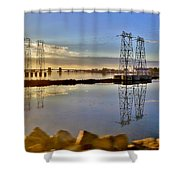 The Saugus River At Dawn Shower Curtain