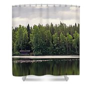 The Sauna Of Kintulammi Shower Curtain
