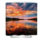 The Scenic Elbe Shower Curtain