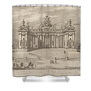 "The School Of Athens Arcades, For The ""chinea"" Festival Shower Curtain"