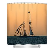 The Schooner America Shower Curtain