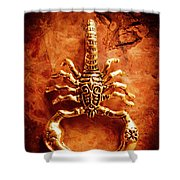 The Scorpion Scarab Shower Curtain