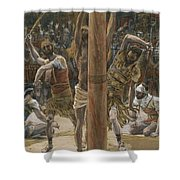 The Scourging On The Back Shower Curtain
