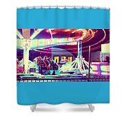 The Scrambler Shower Curtain