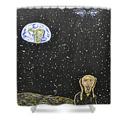 The Scream And Planets  Shower Curtain