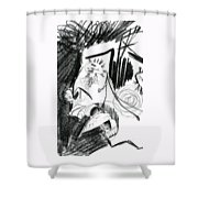 The Scream - Picasso Study Shower Curtain