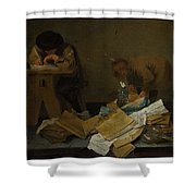 The Scribe Shower Curtain