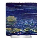 The Sea And Sky Where Thunder Sleeps Shower Curtain