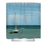 The Sea Calls My Name Shower Curtain by Break The Silhouette