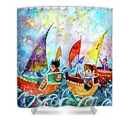 The Sea Cruise Of Tivoli Gardens Shower Curtain