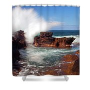 The Sea Explodes Shower Curtain