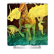 The Seahorse Shower Curtain by Henryk Gorecki