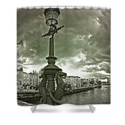 The Seahorses 2 Bw Shower Curtain