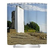 The Seamark On St Helens Beach Shower Curtain