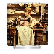 The Seamstress At Work Shower Curtain