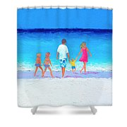 The Seaside Holiday - Beach Painting Shower Curtain