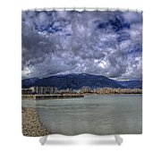 The Seasons On Lake Pend Oreille Shower Curtain