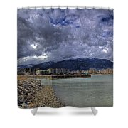 The Seasons Sandpoint Shower Curtain