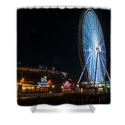 The Seattle Great Wheel 2 Shower Curtain
