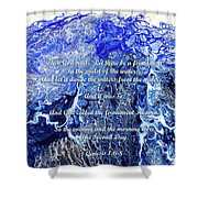 The Second Day With Scripture Shower Curtain