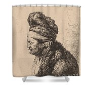 The Second Oriental Head Shower Curtain