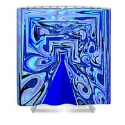 The Secret Room Abstract Shower Curtain