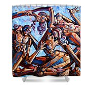 The Seduction Of The Muses Shower Curtain
