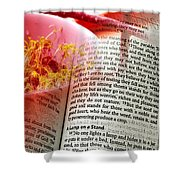 The Seed Is The Word Of God Shower Curtain