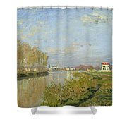 The Seine At Argenteuil Shower Curtain by Claude Monet