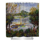 The Seine At Argenteuil Shower Curtain by Pierre Auguste Renoir