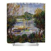The Seine At Argenteuil Shower Curtain by Pierre Auguste Renoir