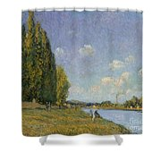 The Seine At Billancourt Shower Curtain