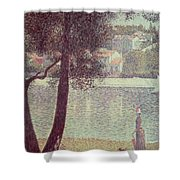 The Seine At Courbevoie Shower Curtain