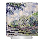 The Seine At Giverny Shower Curtain