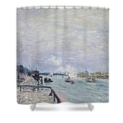 The Seine At Grenelle  Shower Curtain