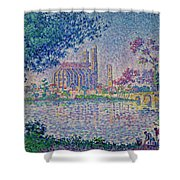 The Seine At Mantes, By Paul Signac, 1899-1900, Kroller-muller M Shower Curtain
