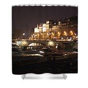 The Seine At Night Shower Curtain