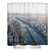 The Seine River In Paris Shower Curtain