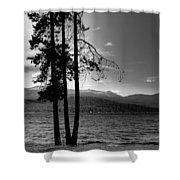The Selkirk Mountains On Priest Lake Shower Curtain