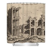 The Septizonium And The Colosseum Shower Curtain