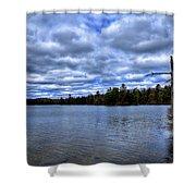 The Serenity Of Limekiln Lake Shower Curtain
