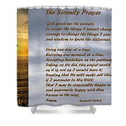 The Serenity Prayer Shower Curtain by Barbara Snyder