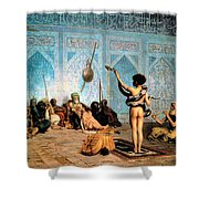 The Serpent Charmer Shower Curtain by Jean Leon Gerome