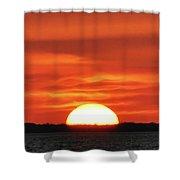 The Setting Sun Shower Curtain