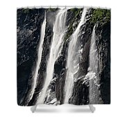 The Seven Sister Waterfall Shower Curtain
