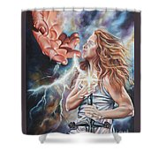 The Seven Spirits Series - The Spirit Of Might Shower Curtain