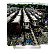 The Seven Train Yard Queens Ny Shower Curtain
